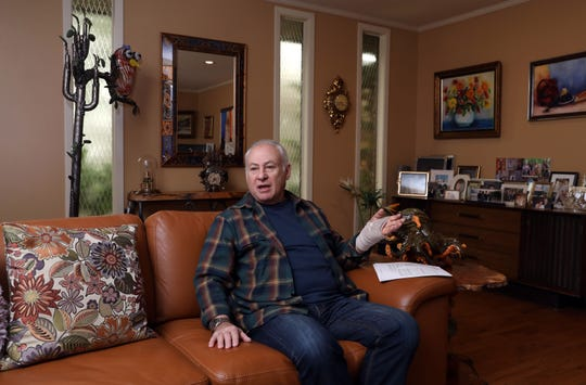 Homeowner Frank Greenberg, 75, talks about the proposed budget which includes a 9.2% increase in expenses, at his home in Suffern April 9, 2019.