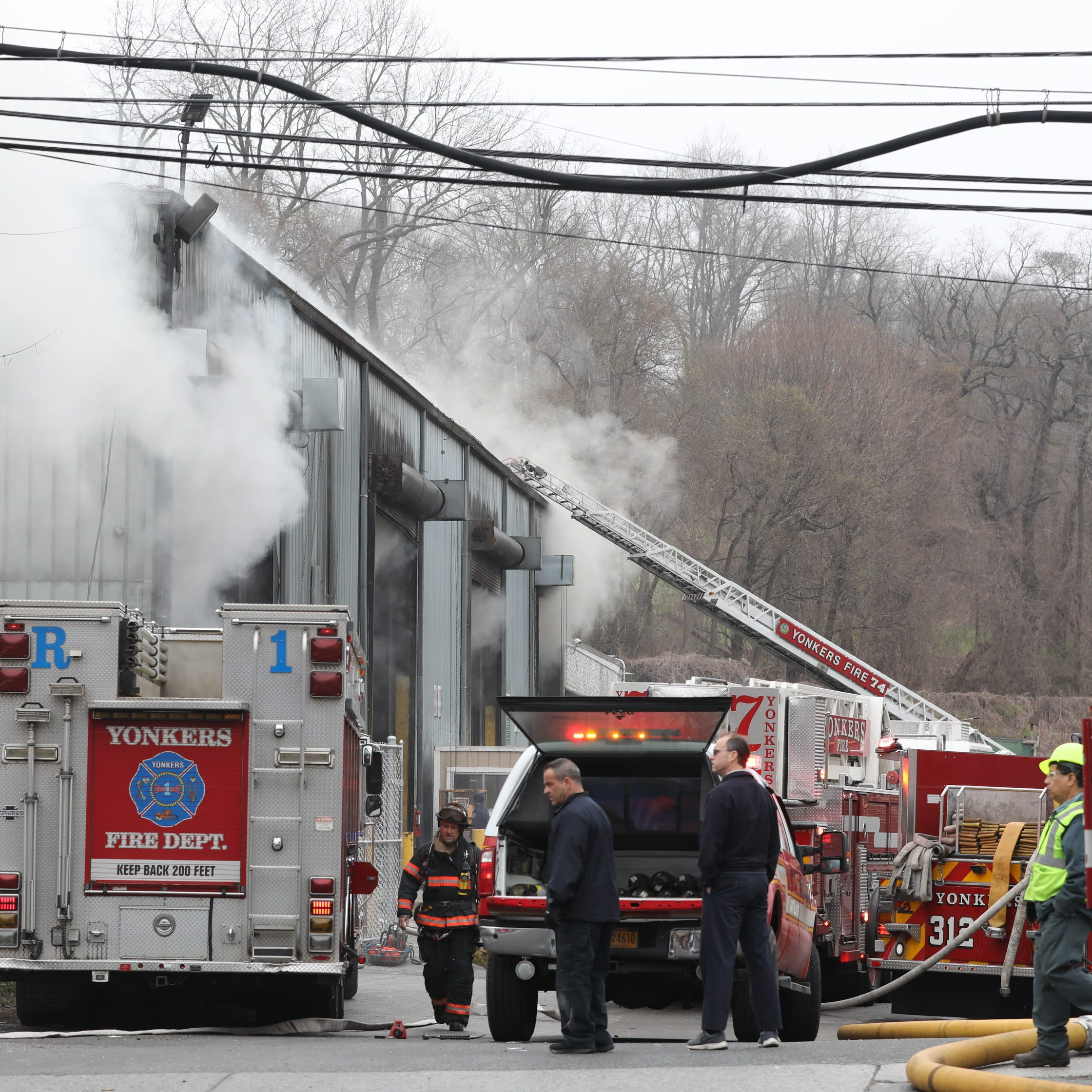 Yonkers fire burns Waste Management facility