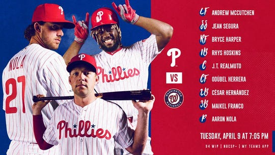 Tonight''s Phillies lineup vs. Washington