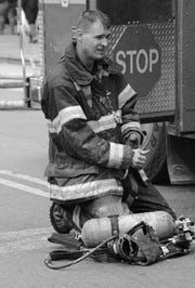 Christopher Slutman spent 19 years with the Kentland Volunteer Fire Department, also serving with the FDNY in the Bronx.