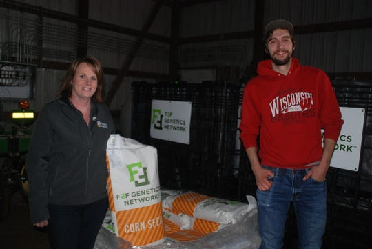 Dairy farmer Walker Rynes consulted with Farmers Business Network field representative Dawn Burroughs and the data analytics of the network to make seed purchasing decisions. He figures he saved his family's farm $70,000 on seed this year buying generic conventional corn. That's on top of savings they achieved on farm chemicals and fertilizer.