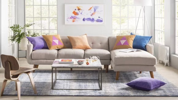These velvet pillows come in so many colors you could decorate the whole house.