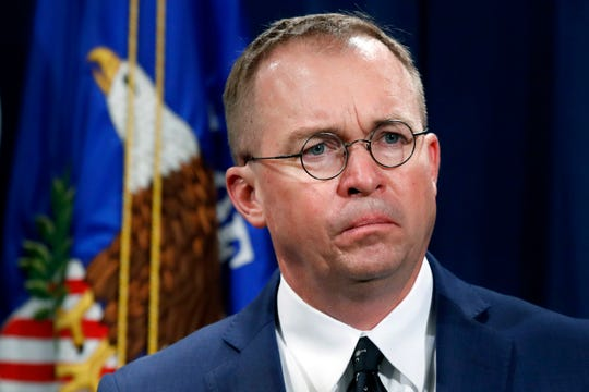Mick Mulvaney, acting White House chief of staff.