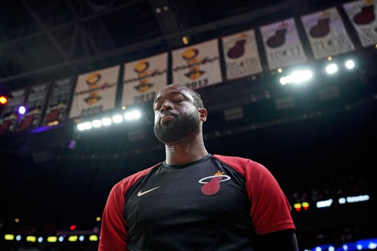 Miami Heat guard Dwyane Wade.