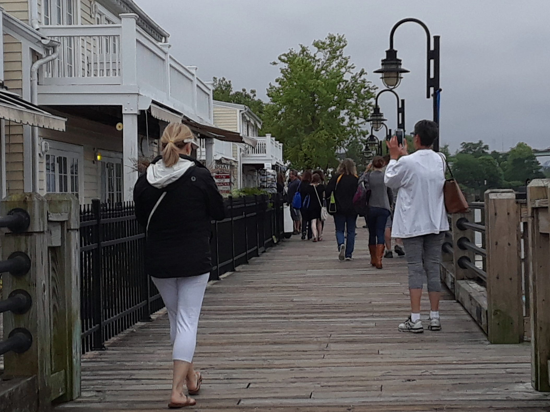 The downtown riverwalk rivals the beaches as an attraction.