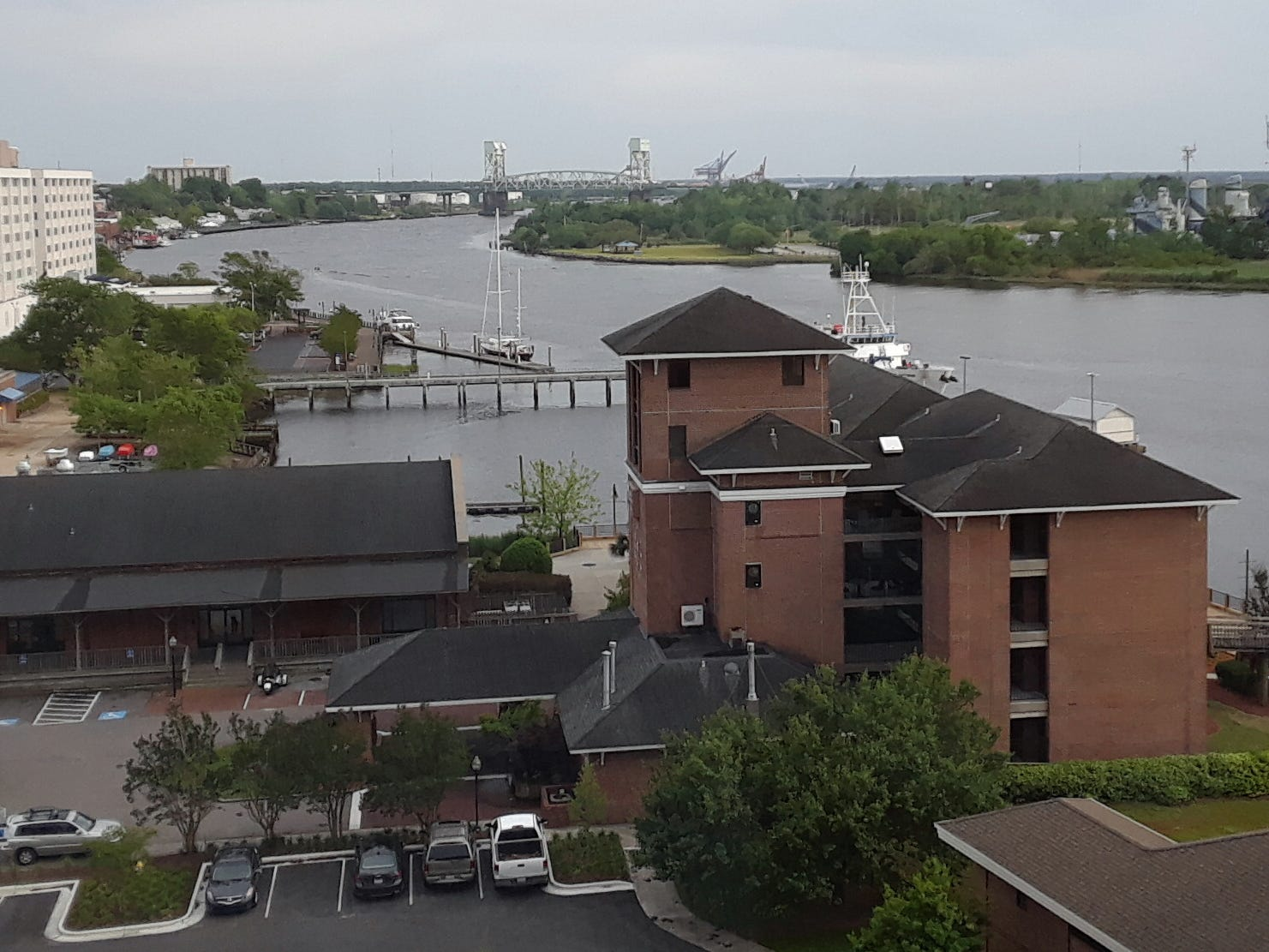 Wilmington grew as a transportation hub in the 1800s, a place where oceangoing ships linked with rail lines. That low-lying area along the Cape Fear River is now the site of hotels, condo high-rises and a convention center.