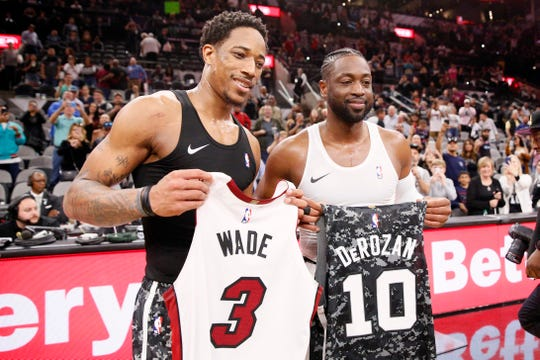 DeMar DeRozan and Dwyane Wade.
