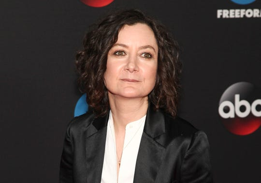 """Sara Gilbert, a co-host on the CBS show """"The Talk,"""" announced that she will be leaving the show at the end of this season."""