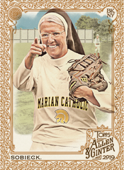 Sister Mary Jo Sobieck's baseball trading card will debut in July 2019.