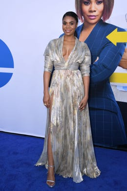 """US actress Regina Hall arrives for the premiere of Universal Pictures' """"Little"""" at the Regency Village Theatre in Los Angeles on April 8, 2019. (Photo by VALERIE MACON / AFP)VALERIE MACON/AFP/Getty Images ORIG FILE ID: AFP_1FH5A7"""