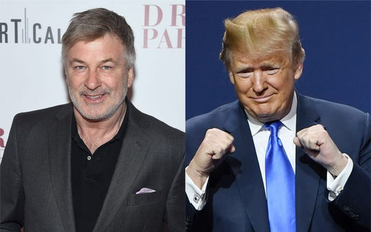 Alec Baldwin and President Donald Trump