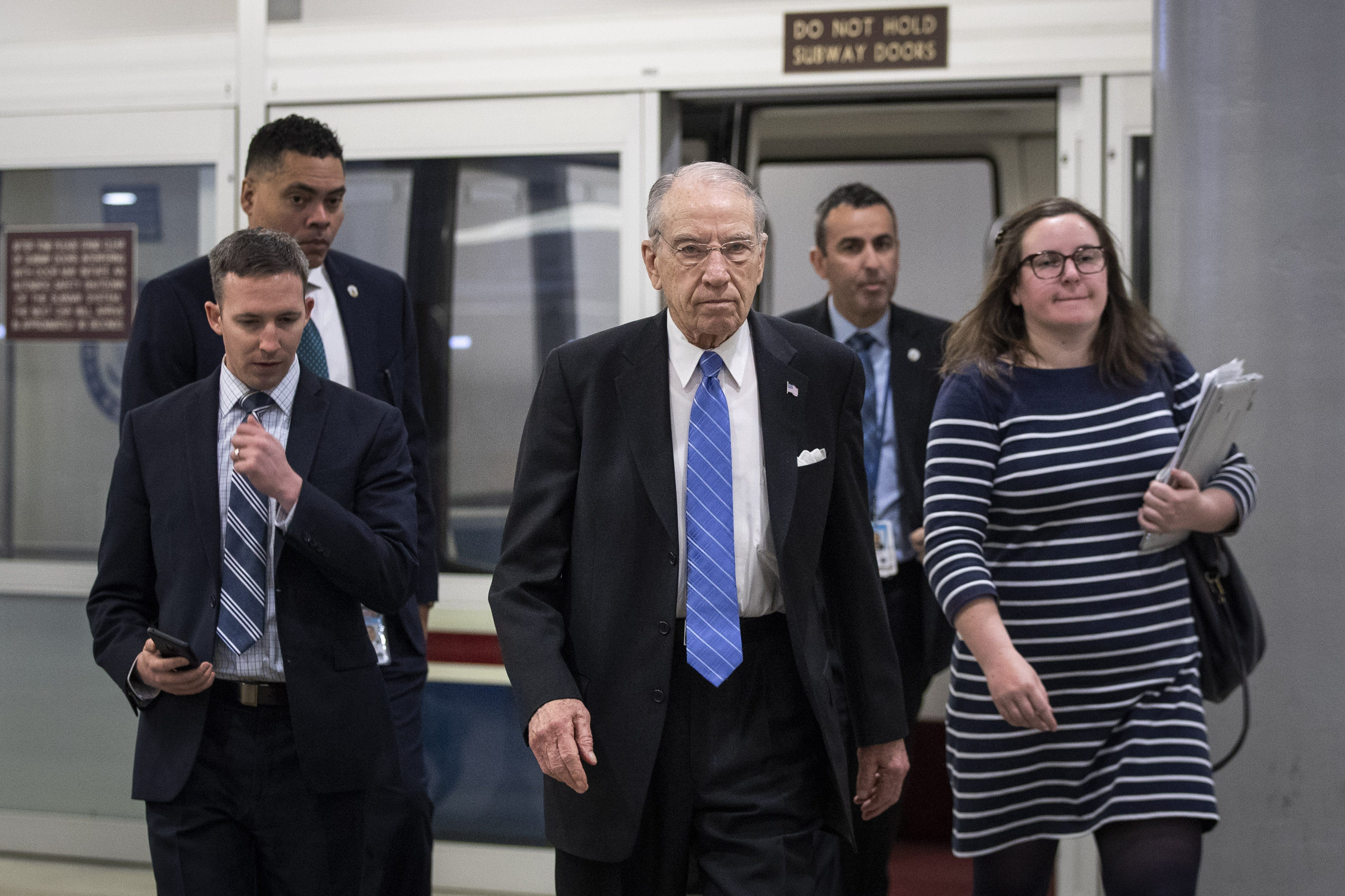 Staunch Trump ally Sen. Chuck Grassley pushes back against calls to out whistleblower
