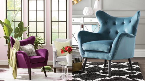 These stunning chairs add drama to a neutral room.