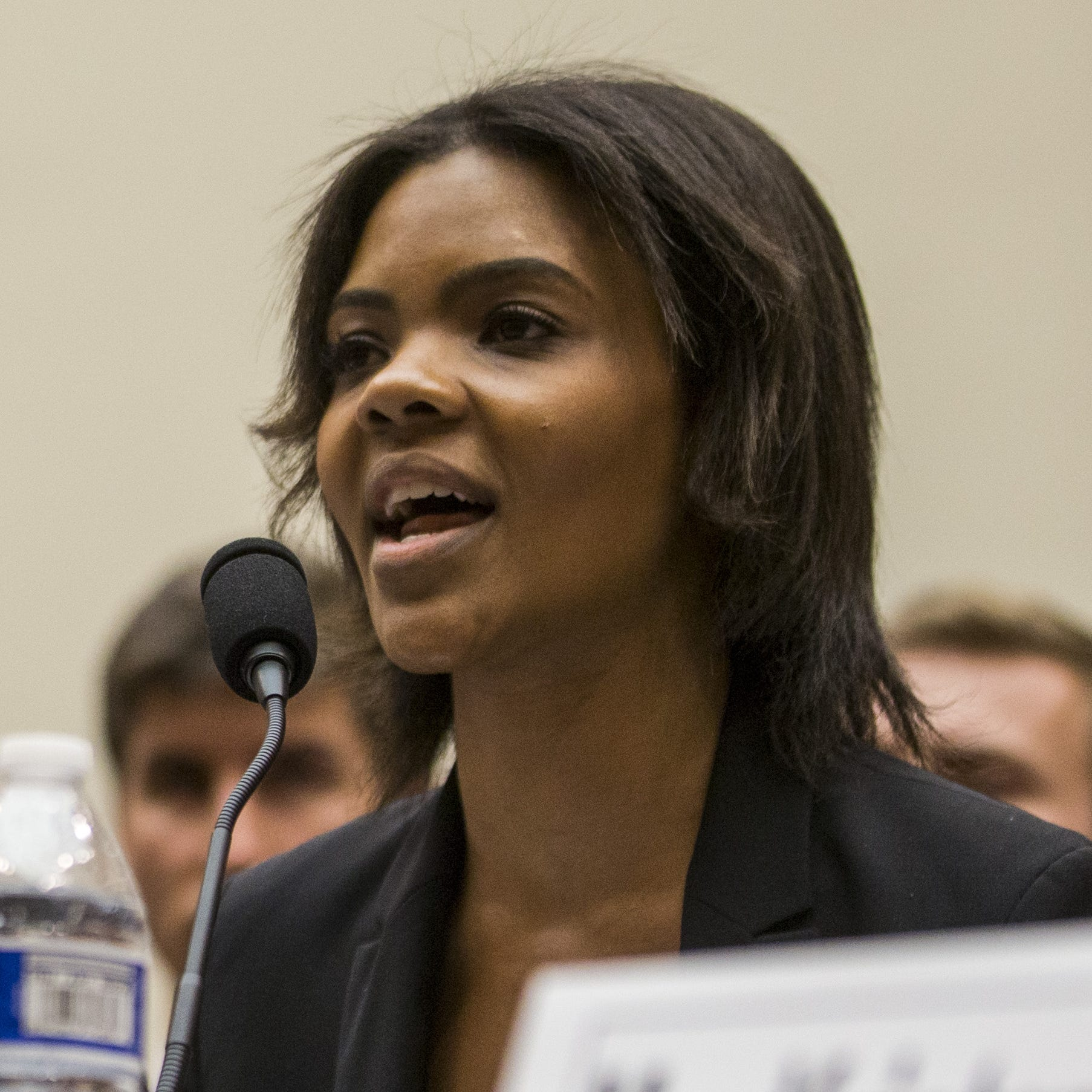 Candace Owens of Turning Point USA testifies during a House Judiciary Committee hearing on hate crimes and the rise of white nationalism on Capitol Hill in Washington, April 9, 2019.