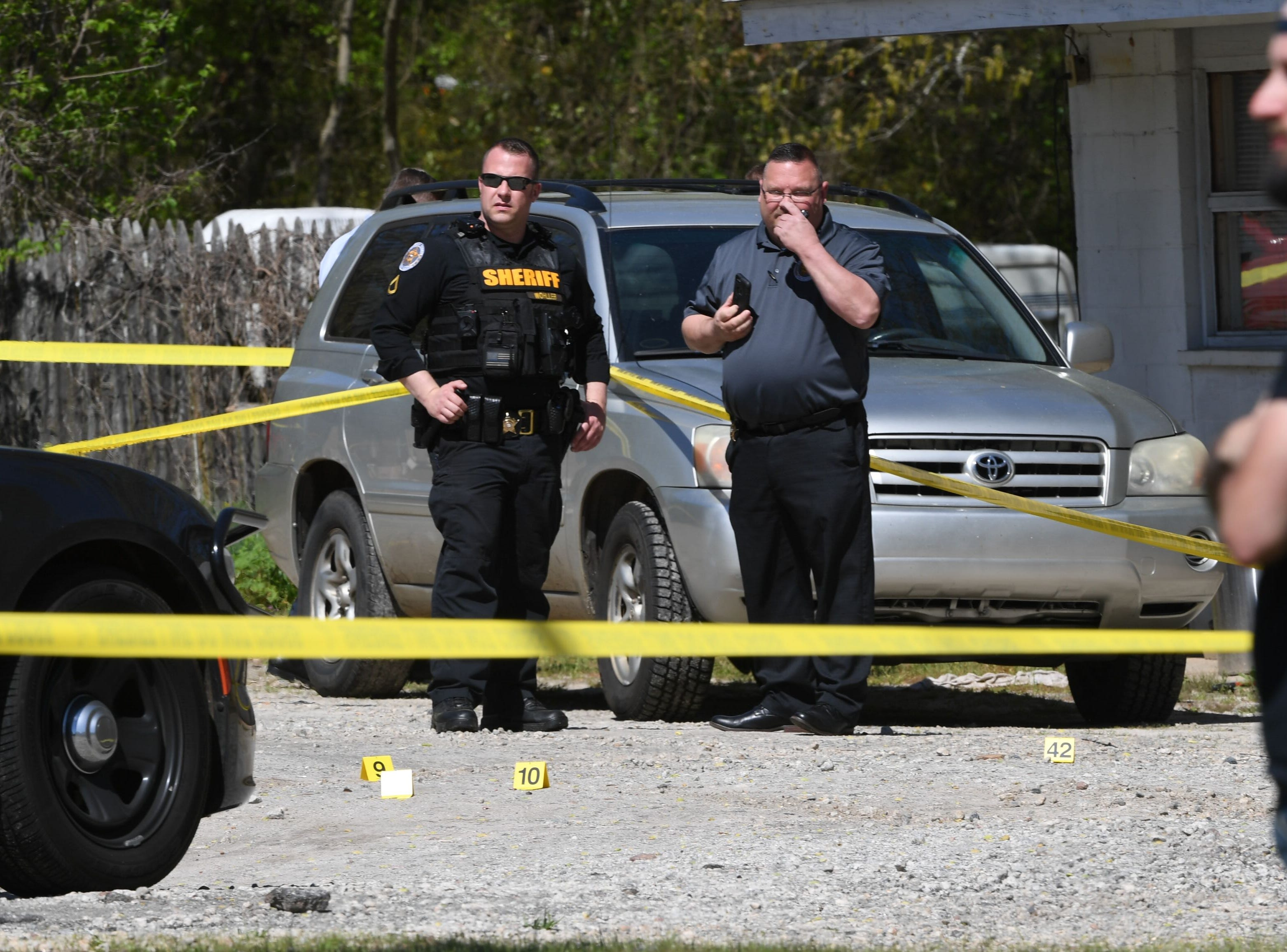 Anderson County Sheriff's Office deputies respond to a shooting at Hilltop Motel on Hwy 29 where two were reported shot.