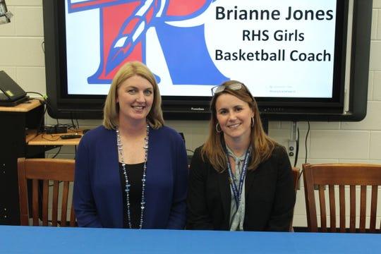 Brianne Jones with Riverside High School principal Darah Huffman