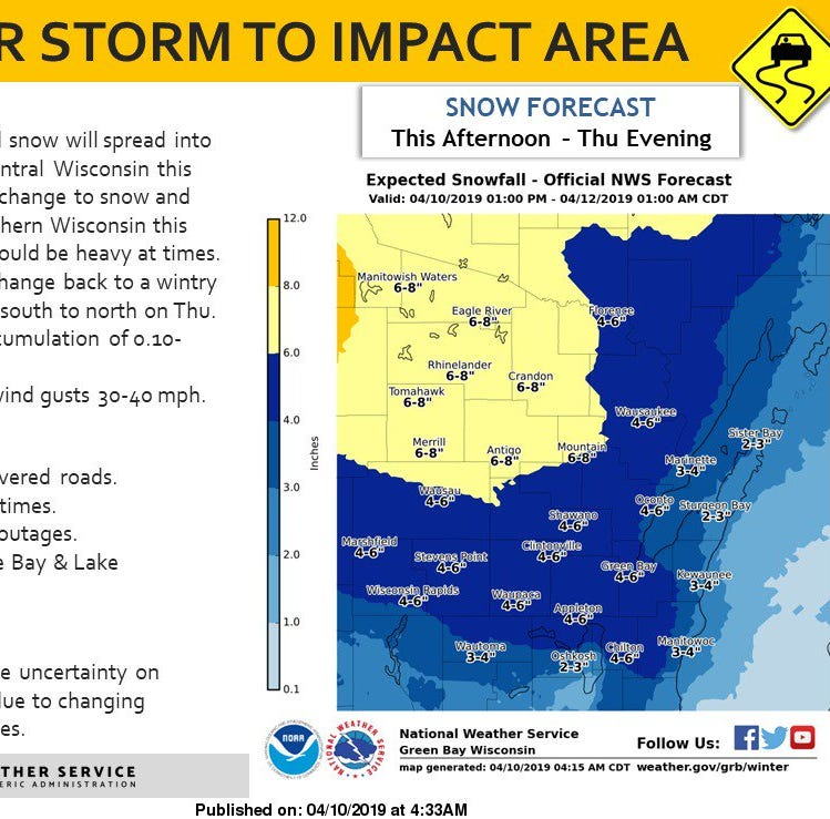 Wisconsin weather: Winter storm to make travel sloppy and difficult Wednesday into Thursday