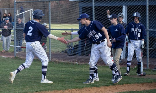 Middletown South baseball vs Christian Brothers Academy in Middletown, NJ on March 10, 2019.