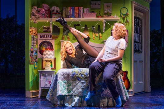 """Angie Schworer and Caitlin Kinnunen in """"The Prom"""" on Broadway."""
