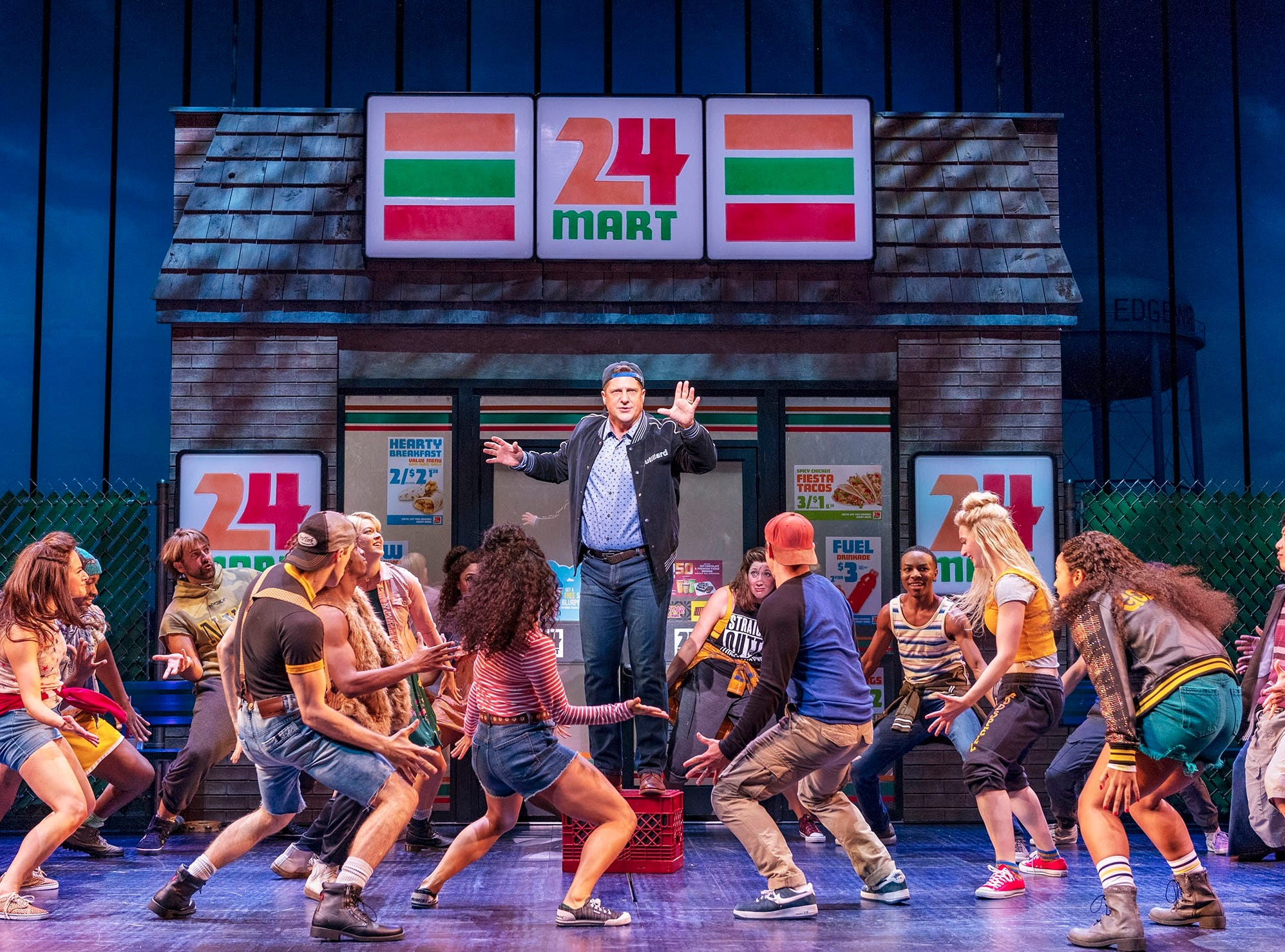 """Christopher Sieber and the cast of """"The Prom"""" on Broadway."""
