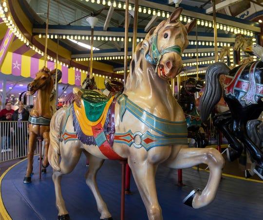 The Dr. Floyd Moreland Dentzel-Looff Carousel at Casino Pier in Seaside Heights, N.J.