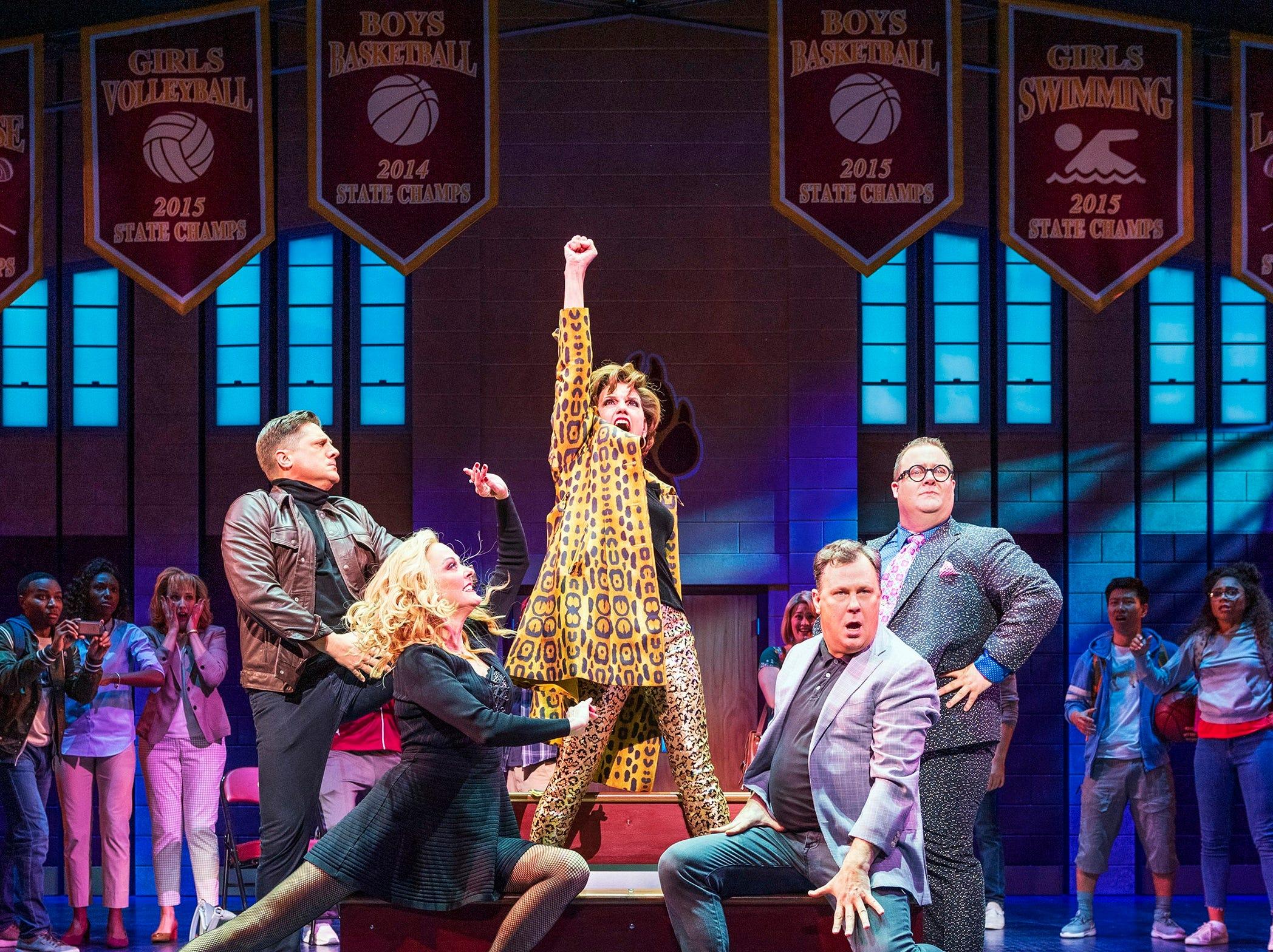 "Christopher Sieber, Angie Schworer, Beth Leavel, Brooks Ashmanskas and Josh Lamon in ""The Prom"" on Broadway."