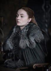 "Sophie Turner as Sansa Stark in ""Game of Thrones"" Season 8."