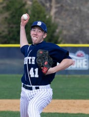 Middletown South pitcher Michael Keenan delivers a pitch during the Eagles' 8-2 win at Christian Brothers Academy on Wednesday.