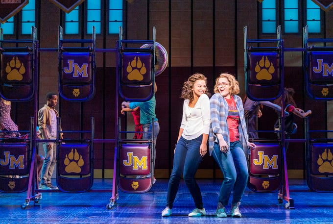 """Isabelle Mccalla and Caitlin Kinnunen in """"The Prom"""" on Broadway."""