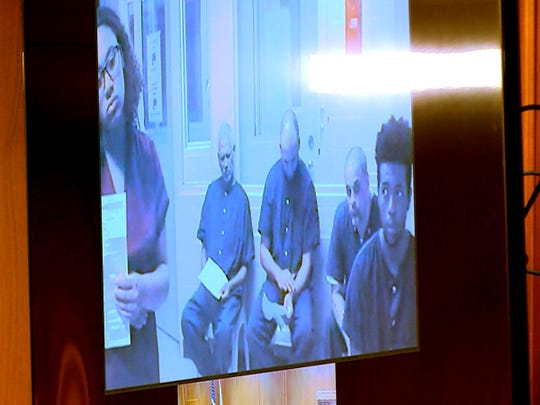 Jada M. McClain and Quaimere Mohammed apeared via video to their initail appearance in Judge James McGann's courtroom in State Superior Court in Freehold Wednesday, April 10, 2019.  McClain is charged with the murder of her newborn baby and the baby's father Mohammed is charged with desecrating the infant's remains.