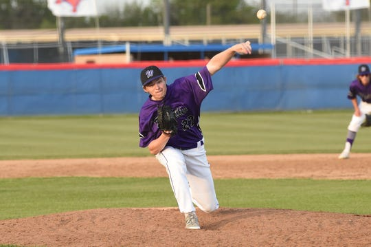 Wylie's Reed Hughes (27) is one of six sophomores to pitch this season for the Bulldogs, who have also used a freshman in significant spots in the rotaion.