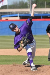 Wylie pitcher Dash Albus (7) has developed into the staff ace during his sophomore campaign. Albus leads the Bulldogs with 38 innings pitched and is 6-1 on the year with a 1.84 ERA.