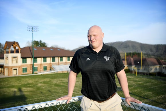 "Christ School sophomore offensive lineman Ian Adams, 17, began losing his hair to alopecia when he was in elementary school. ""I think that God gave me alopecia for a reason, I don't know what that reason is, and it's been hard at times, but I have a feeling I'll be very grateful for the training it has given me while growing up."""