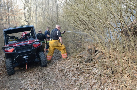 Several departments are using all terrain vehicles to reach brush and field fires.