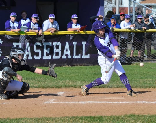 Lakeview's Blake Laws keeps his eye on the ball during an early-season game against Marshall.