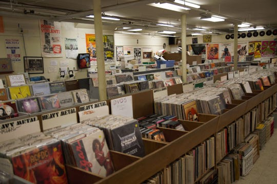 Angry Mom Records is located on the Ithaca Commons below Autumns Leaves Used Books.