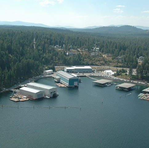 Navy investigates capsized barge at northern Idaho base