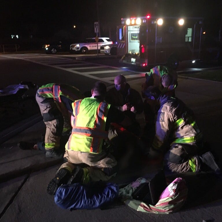 1 person sent to trauma center after crash with waste truck in Melbourne