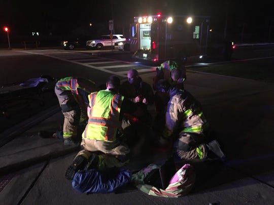 A crash involving a waste truck was reported at 6 a.m. on Pineda Causeway at Estuary Boulevard in Melbourne April 10, 2019.