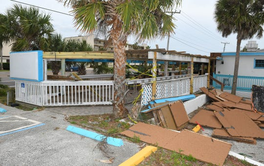 Construction crews are demolishing portions of The Cove's former home on State Road A1A in Satellite Beach.