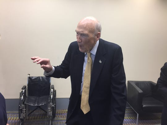 Former Sen. Alan Simpson, R-Wyoming, was the keynote speaker at the 2019 Christus Spohn Lyceum.
