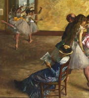 'The Ballet Class,' 1880-1881, by Hilaire-Germain-Edgar Degas. Oil on canvas. Purchased with the W. P. Wilstach Fund, 1937.