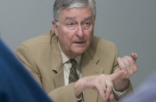In this 2007 photo, former Evesham Township Mayor Gus Tamburro speaks to the Courier-Post Editorial Board. The former town leader passed away recently.