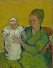 'Portrait of Madame Augustine Roulin and Baby Marcelle,' 1888, by Vincent Willem van Gogh. Oil on canvas.