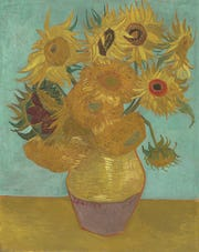 'Sunflowers,' 1889, by Vincent Willem van Gogh. Oil on canvas