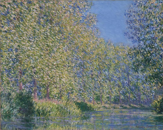 'Bend in the Epte River near Giverny,' 1888, by Claude Monet, French, 1840 – 1926. Oil on canvas.