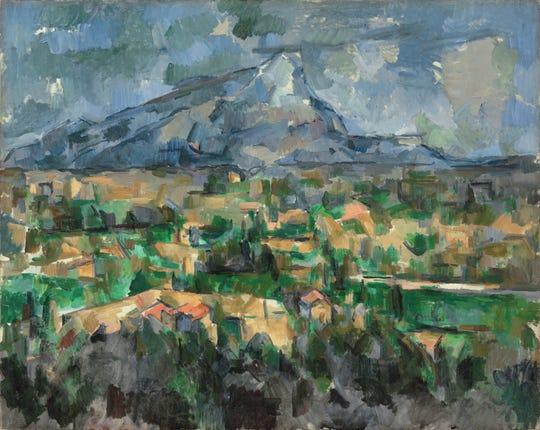 'Mont Sainte-Victoire,' 1902-1904, by Paul Cézanne. Oil on canvas.