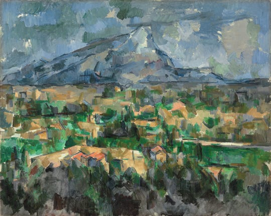 'Mont Sainte-Victoire,' 1902-1904, by Paul Cézanne. Oil on canvas.