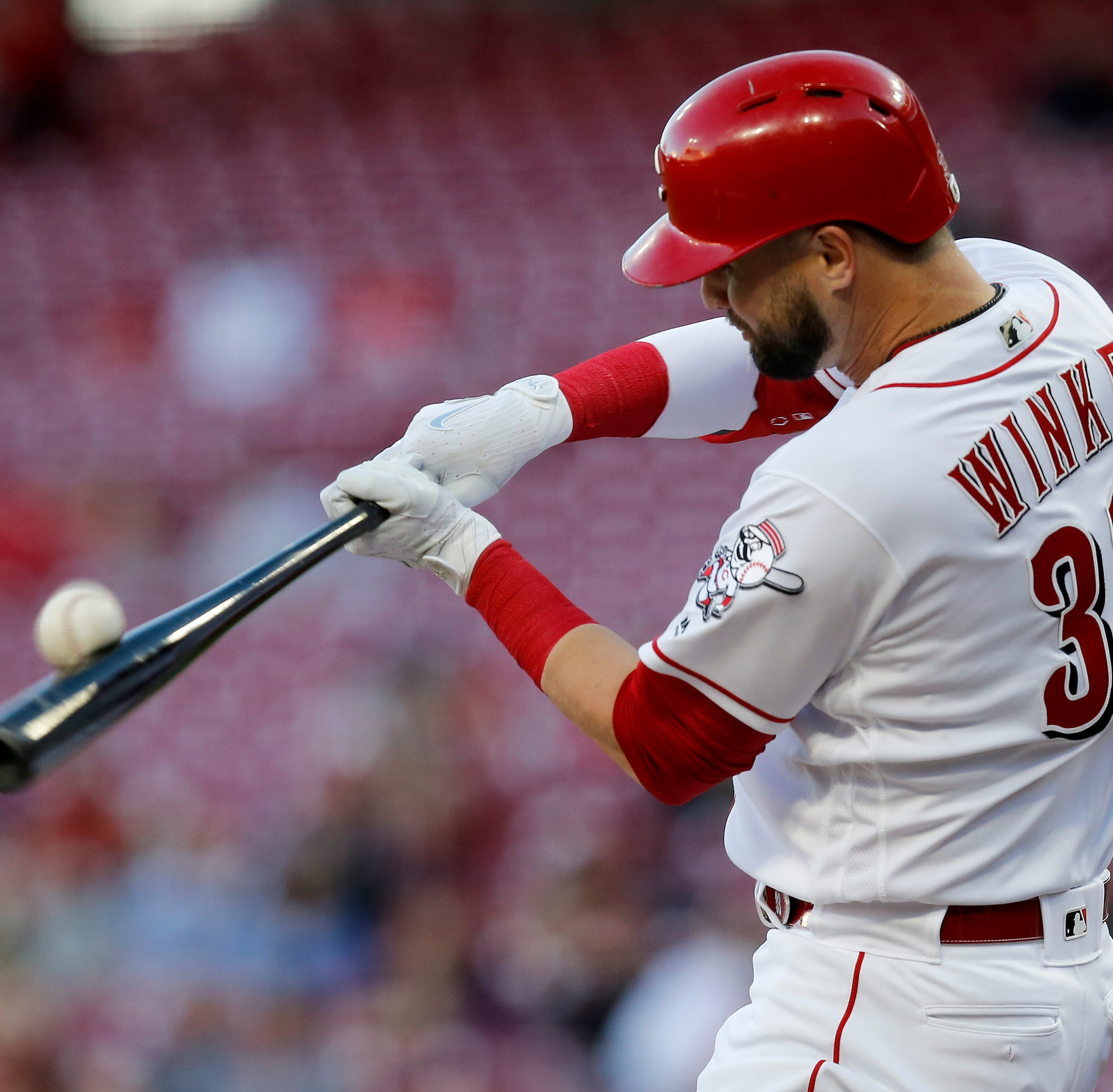 Cincinnati Reds notebook: Jesse Winker breaks out, Hunter Greene surgery, Joey Votto's HBP