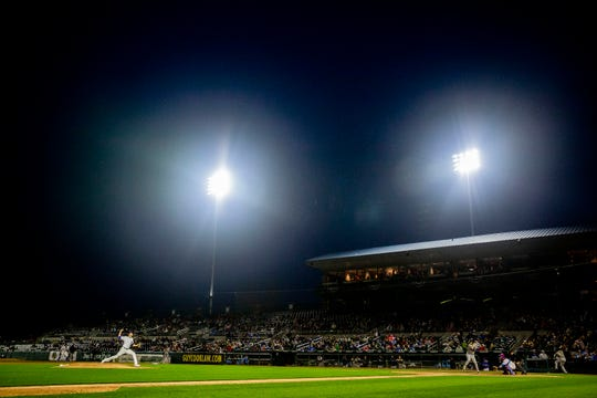 The Iowa Cubs will play Field of Dreams on the scoreboard following Saturday's game.